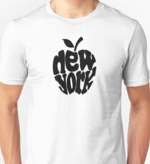 Big Apple New York, black Unisex T-Shirt
