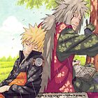 Naruto and Jiraya ( Sensei and Student )  by Netero97