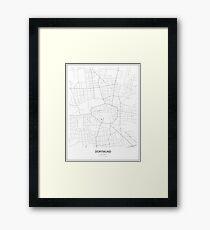 Dortmund Minimalist Map Framed Print