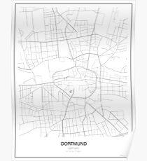 Dortmund Minimalist Map Poster
