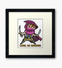 Level 20 Assassin Framed Print