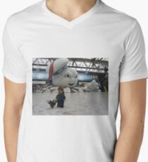 Attack of Stay Puft Men's V-Neck T-Shirt