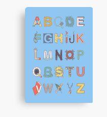 The Alphabet Canvas Print