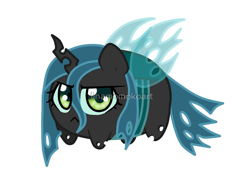 Potato chibi: Queen Chrysalis by linamomokoart