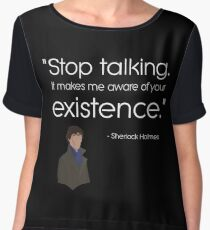 Dark - stop talking Women's Chiffon Top