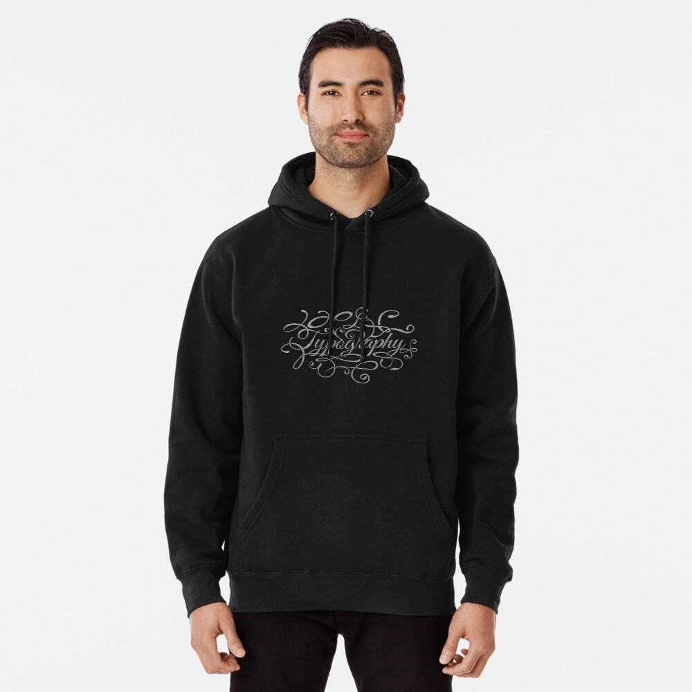 Typography on Typography Pullover Hoodie