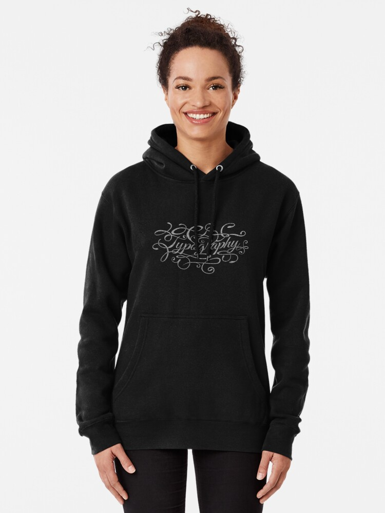 Alternate view of Typography on Typography Pullover Hoodie
