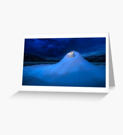 Ice Volcano Greeting Card