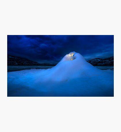 Ice Volcano Photographic Print