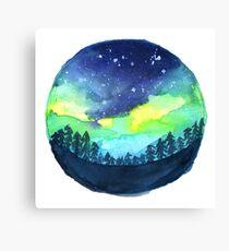 tumblr aurora borealis Canvas Print