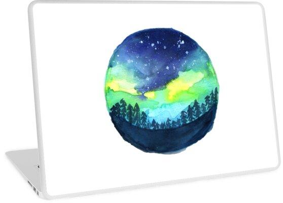 Tumblr Aurora Borealis Laptop Skins By Emilyg22 Redbubble