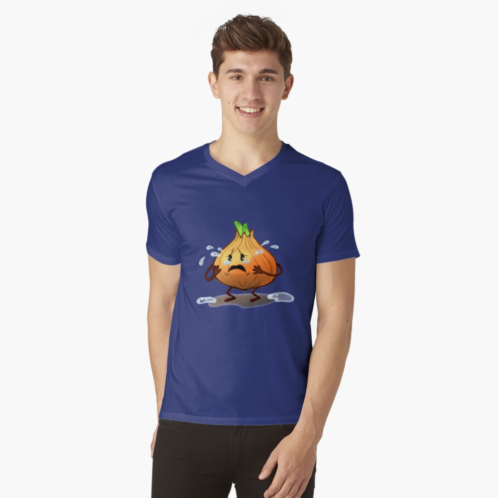 Crying Onion V-Neck T-Shirt