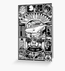 BIOSHOCK JULES VERNE STYLE BW Greeting Card