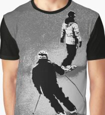 Winter Fun  - Skier and Snowboarder Graphic T-Shirt