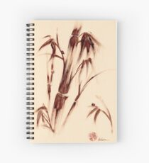 Old Friends - Sumie Ladybug & Bamboo Painting Spiral Notebook