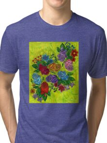 An Explosion of Roses Tri-blend T-Shirt