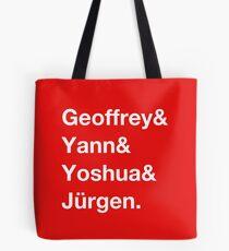 Geoffrey & Yann & Yoshua & Jürgen (white) Tote Bag