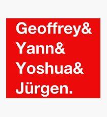 Geoffrey & Yann & Yoshua & Jürgen (white) Photographic Print