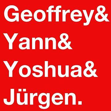 Geoffrey & Yann & Yoshua & Jürgen (white) by perceptron