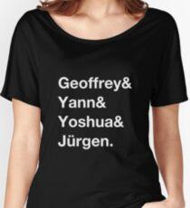 Geoffrey & Yann & Yoshua & Jürgen (white) Women's Relaxed Fit T-Shirt