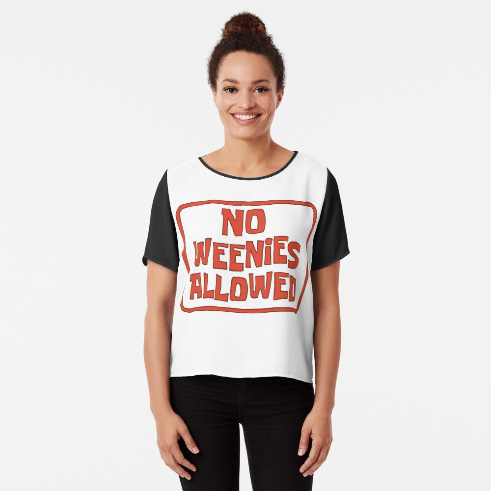 No Weenies Allowed - Spongebob Chiffon Top