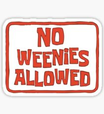 Pegatina No se permiten Weenies - Bob esponja
