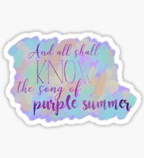 Song of Purple Summer Sticker
