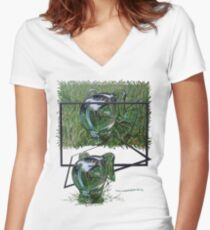 Green Fantje 2 Women's Fitted V-Neck T-Shirt