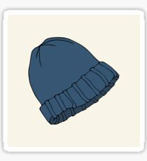 Blue knitted hat Sticker