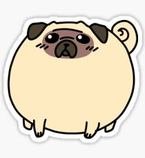 Fat Round Pug Sticker