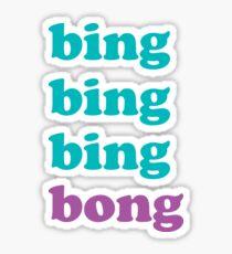 Bing Bong - Christine Syldelko Sticker