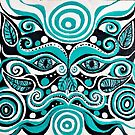 Hypnotic Chinese Mask Cat  by Thecathartist