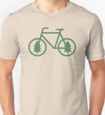 Pacific Northwest Bike - Pine Tree Bicycle - Cycling Unisex T-Shirt