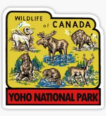 Yoho National Park British Columbia Vintage Travel Decal Sticker