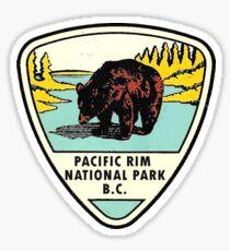 Pacific Rim Nationalpark BC Kanada Vintage Reise Aufkleber Sticker