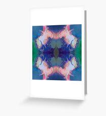 Merging Fantasies Abstract Pattern Artwork Greeting Card