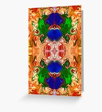 Merging Consciousness With Abstract Artwork Greeting Card