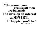 Sharon Strzelecki sports quote (black) by likeagirlpod