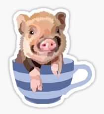 Teacup Pig Sticker