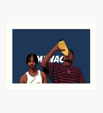 """Caine and O-Dog of Menace II Society """"Corner Store Tings"""" Art Print"""