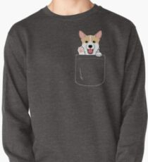 Corgi In Pocket T-Shirt Cute Paws Blush Smile Puppy Emoji  Pullover