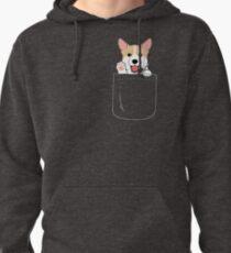 Corgi In Pocket T-Shirt Cute Paws Blush Smile Puppy Emoji  Pullover Hoodie