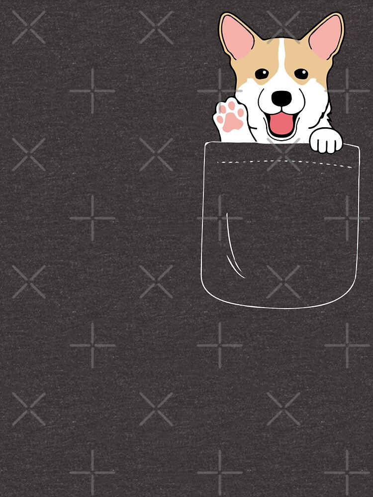 Corgi In Pocket camiseta Cute Paws Blush Smile Puppy Emoji de JapaneseInkArt
