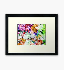 drawing and painting colorful flowers background Framed Print