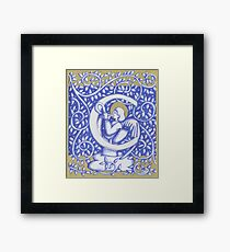 Angel Letter C 2017 Framed Print