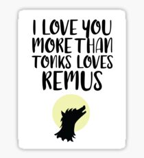 More Than Tonks Loves Remus Sticker