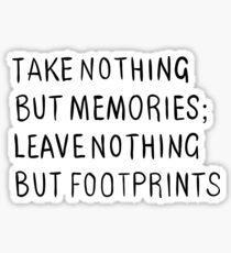 Footprints Adventure Text Memories Sticker