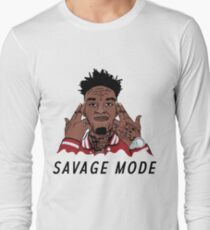 "21 Savage ""Been In Savage Mode""  Long Sleeve T-Shirt"