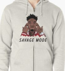 "21 Savage ""Been In Savage Mode""  Zipped Hoodie"