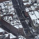 Aerial View, Snow View, Lower Manhattan, New York City by lenspiro